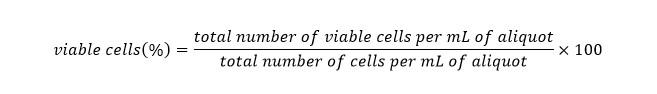 فرمول درصد سلول های زنده